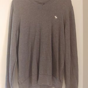 Grey Long Sleeve Sweater 100% Cotton